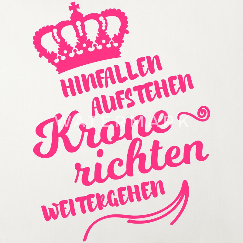 hinfallen krone richten weitergehen lustig spruch sofakissenbezug spreadshirt. Black Bedroom Furniture Sets. Home Design Ideas