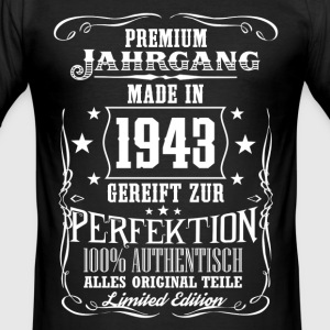 1943 - Premium Jahrgang - Limited Edition - DE T-shirts - Slim Fit T-shirt herr