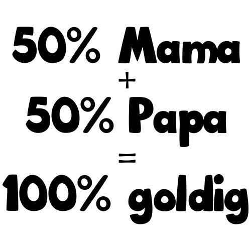 50 Prozent Mama und Papa