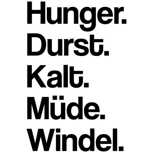 Hunger.Durst.Müde.Kalt.