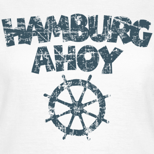 Hamburg Ahoy Steuer Vintage Dunkel