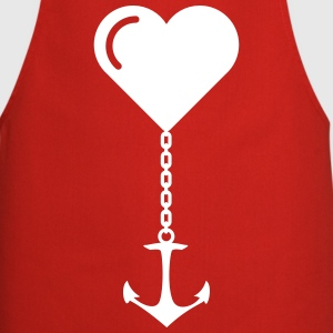 Anchor heart love JGA port marriage home  Aprons - Cooking Apron