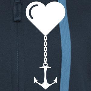 Anchor heart love JGA port marriage home Hoodies & Sweatshirts - Women's Premium Hooded Jacket