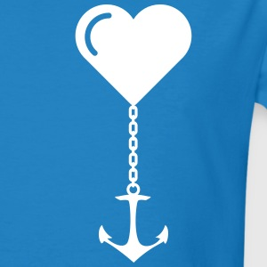 Anchor heart love JGA port marriage home T-Shirts - Men's Organic T-shirt