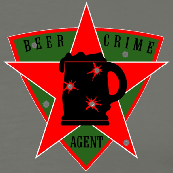 beer crime agent.png fr Tee shirts - T-shirt Premium Homme