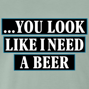 i need a beer_vec_3 en T-Shirts - Men's Premium T-Shirt
