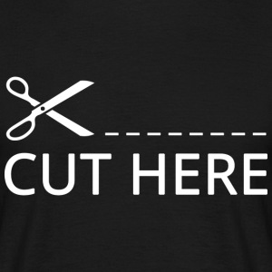Cut Here Scissors - Men's T-Shirt