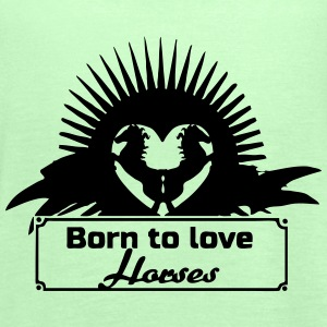 Born to love Horses - Women's Tank Top by Bella