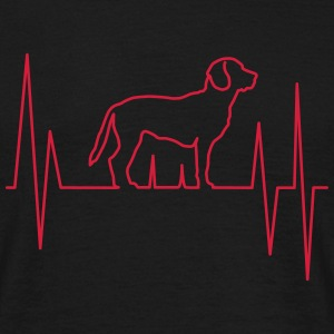 Beagle Dog Heartbeat T-Shirts - Men's T-Shirt