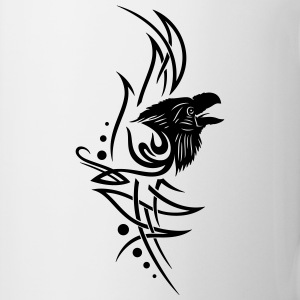 Tribal, tattoo with raven head. - Mug