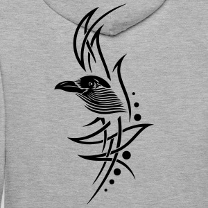 Tribal, tattoo with crows head. - Men's Premium Hoodie