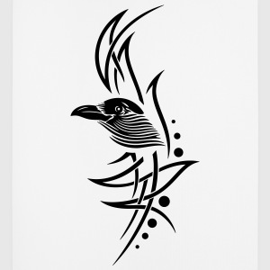 Tribal, tattoo with crows head. - Mouse Pad (vertical)