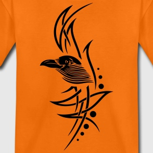 Tribal, tattoo with crows head. - Teenage Premium T-Shirt