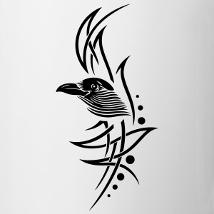 Tribal, tattoo with crows head. - Mug