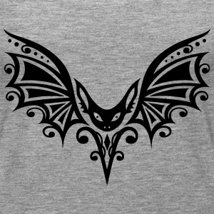 Flying Bat, Tribal and Tattoo Design - Women's Premium Tank Top