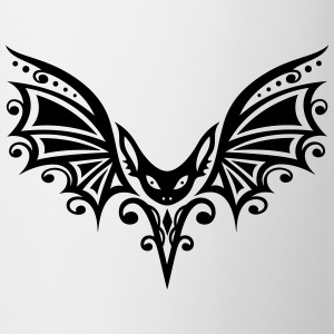 Flying Bat, Tribal and Tattoo Design - Mug