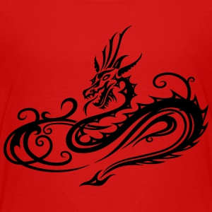Dragon with infinity symbol - Teenage Premium T-Shirt