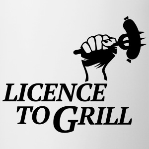 licence to grill BBQ grillen Würstchen Barbecue Mugs & Drinkware - Contrasting Mug