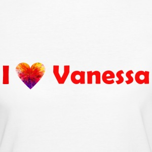 I love Vanessa T-Shirts - Frauen Bio-T-Shirt
