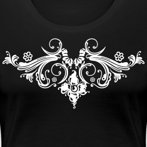 Filigree flowers and baroque ornament. - Women's Premium T-Shirt
