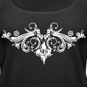 Filigree flowers and baroque ornament. - Women's Premium Tank Top