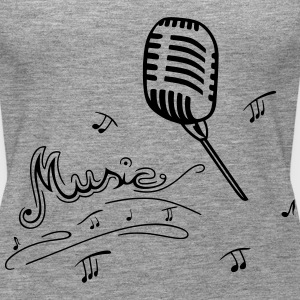 Microphone with music notes - Women's Premium Tank Top