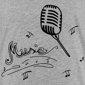 Microphone with music notes - Teenage Premium T-Shirt
