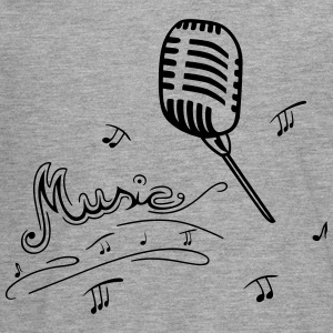 Microphone with music notes - Teenagers' Premium Longsleeve Shirt