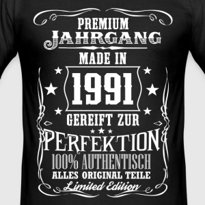 1991 - Premium Jahrgang - Limited Edition - DE T-shirts - Slim Fit T-shirt herr