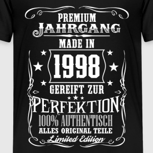 1998 - Premium Jahrgang - Limited Edition - DE T-shirts - Teenager premium T-shirt