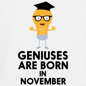 Geniuses are born in NOVEMBER Sbv9r Long Sleeve Shirts - Teenagers' Premium Longsleeve Shirt