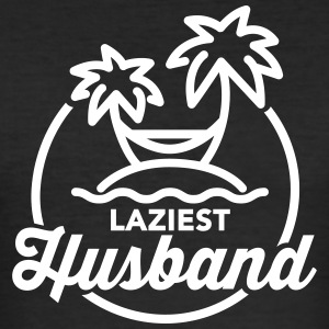 Laziest husband T-skjorter - Slim Fit T-skjorte for menn