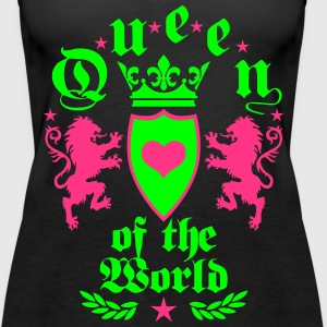 Queen of the World Lions Golden Crown Heart Top - Frauen Premium Tank Top