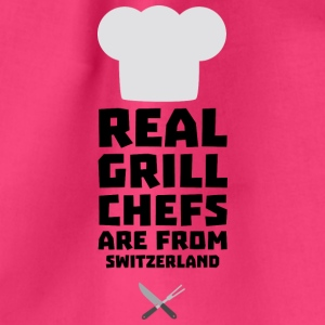 Real Grill Chefs are from Switzerland S0wny Bags & Backpacks - Drawstring Bag