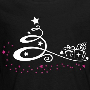 Abstract christmas tree with stars and gifts. - Teenagers' Premium Longsleeve Shirt