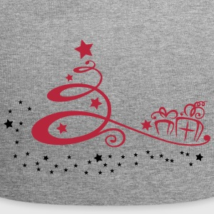 Abstract christmas tree with stars and gifts. - Jersey Beanie