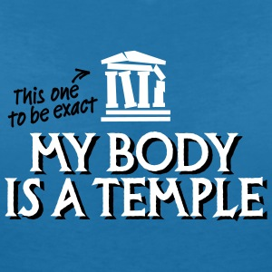 My body is a temple 2c T-shirts - T-shirt med v-ringning dam