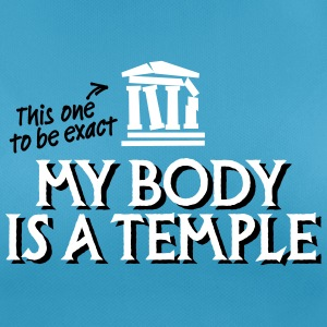 My body is a temple 2c T-shirts - Andningsaktiv T-shirt dam