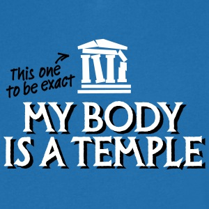 My body is a temple 2c T-shirts - Mannen T-shirt met V-hals