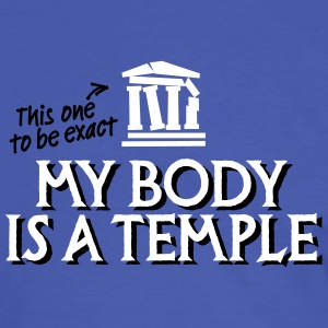 My body is a temple 2c T-Shirts - Männer Kontrast-T-Shirt
