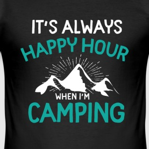 Camping T-shirts - Herre Slim Fit T-Shirt