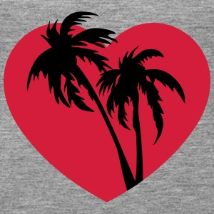 Palm Heart Tops - Frauen Premium Tank Top