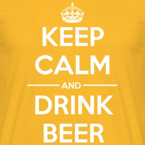 Drinks Keep calm Beer T-Shirts - Men's T-Shirt