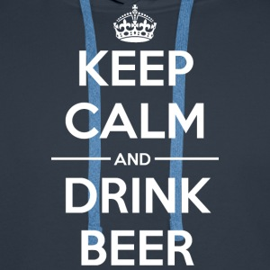 Drinks Keep calm Beer Hoodies & Sweatshirts - Men's Premium Hoodie