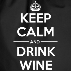 Drinks Keep calm Wine  Bags & Backpacks - Drawstring Bag