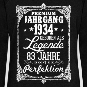 83 1934-legend - perfection - 2017 - DE Hoodies & Sweatshirts - Women's Boat Neck Long Sleeve Top