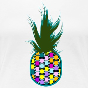Color Ananas Tee shirts - T-shirt Premium Femme