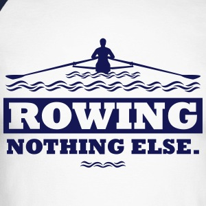 rowing nothing else Rudern Skull Boot Skiff Manches longues - T-shirt baseball manches longues Homme
