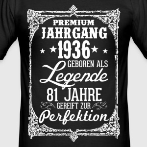 81 - 1936 - Legende - Perfektion - 2017 - DE T-Shirts - Männer Slim Fit T-Shirt