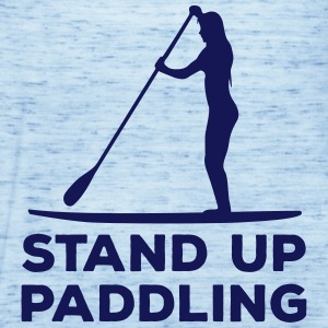 Standing paddler SUP Paddle Sports water sports summer Tops - Women's Tank Top by Bella